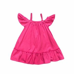 Old Navy pink cold shoulder dress 3T